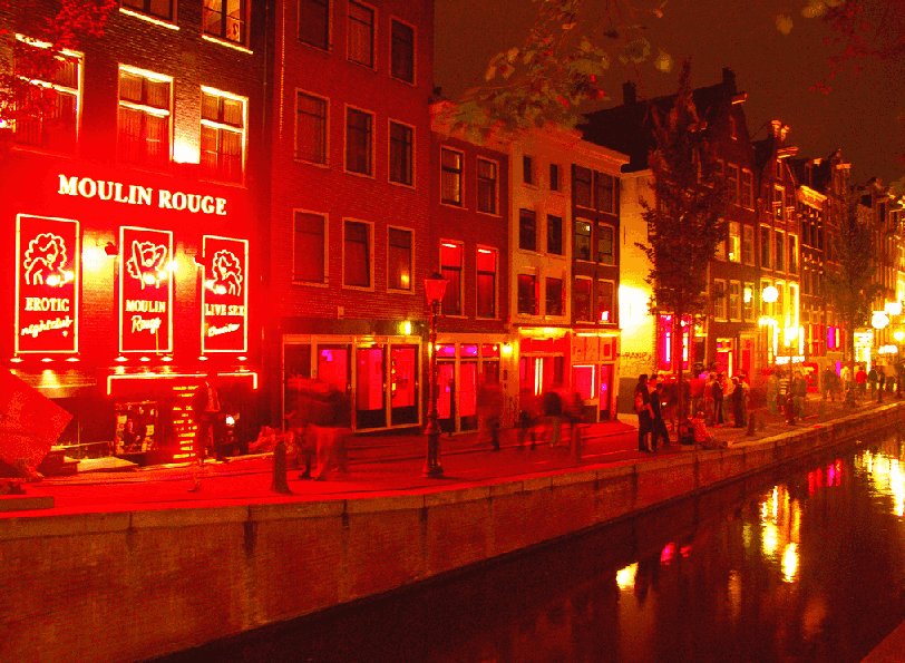 Red Light District em Amsterdã