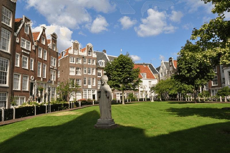 Jardim Begijnhof em Amsterdã