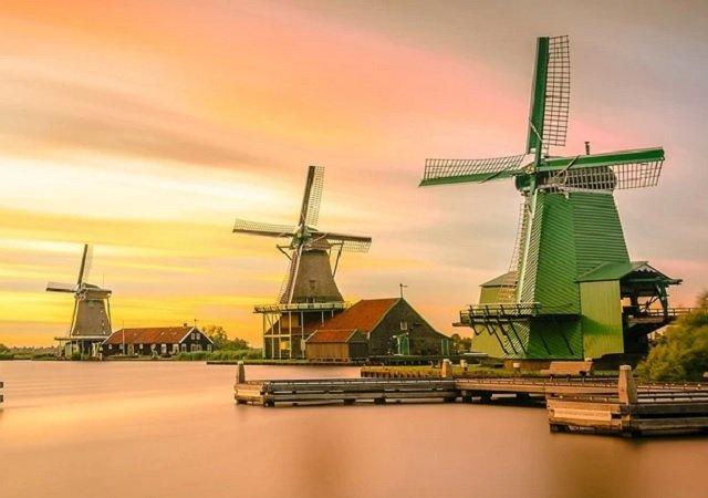 Zaanse Schans: os famosos moinhos holandeses