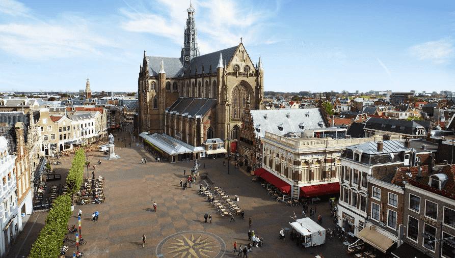 Viagem de trem de Amsterdã a Haarlem