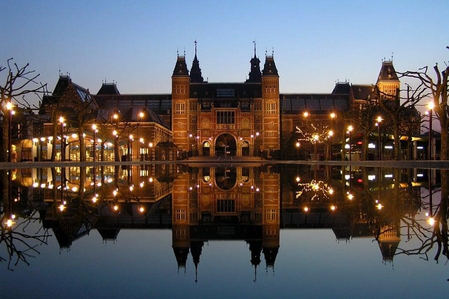 Museus da cidade de Amsterdã no inverno
