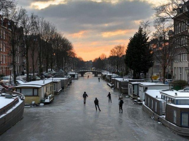 Amsterdã em fevereiro