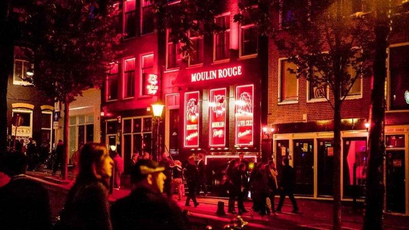 Distrito da Luz Vermelha em Amsterdã