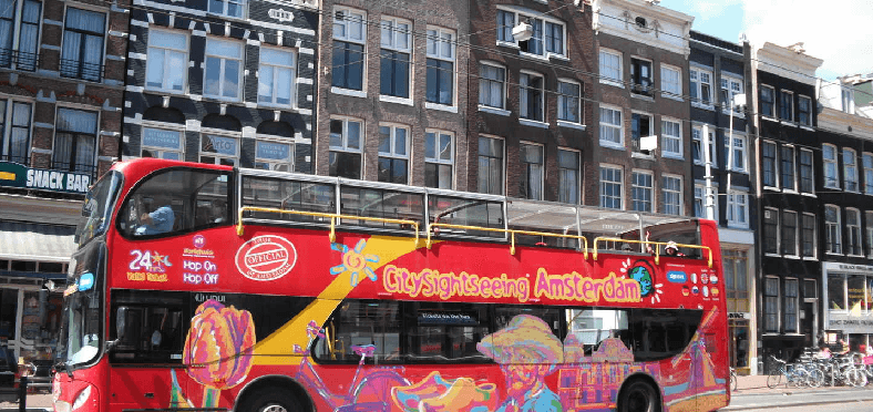 Tour de ônibus turístico em Amsterdã