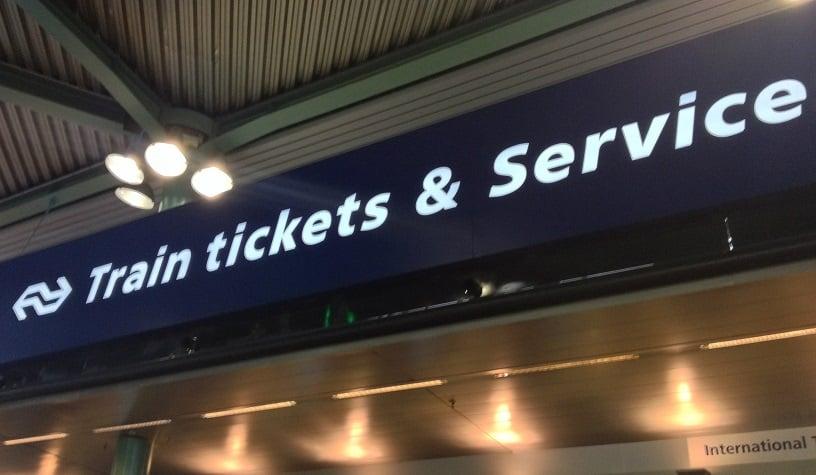 Ticket para trens em Amsterdã