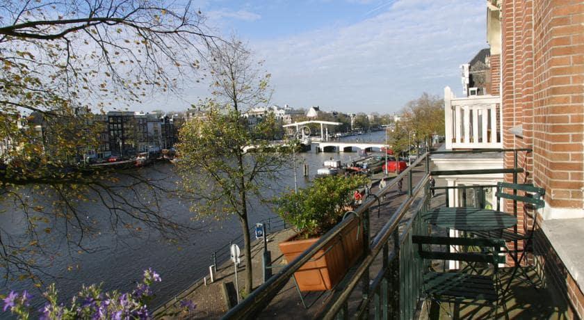 The Brigde Hotel em Amsterdã - vista do quarto