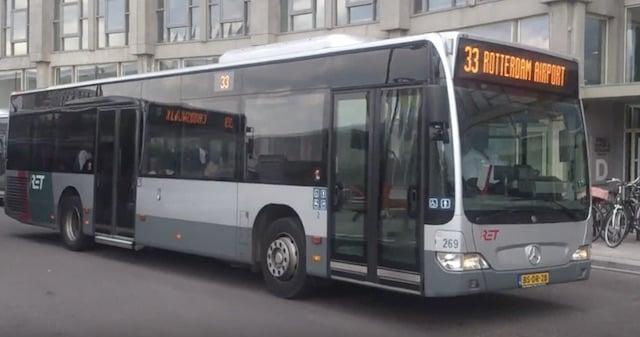 De ônibus do aeroporto de Roterdã até o centro turístico